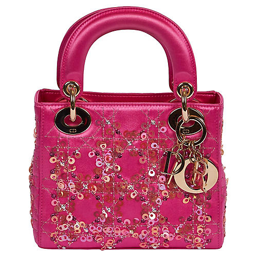 Mini Lady Dior Couture Hot Pink Sequins