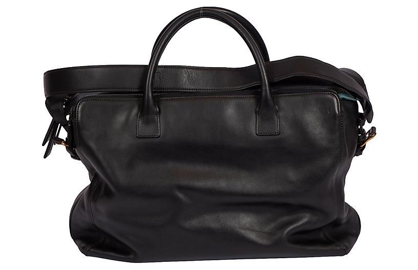 Chanel 90's Black Lamskin Unisex Bag
