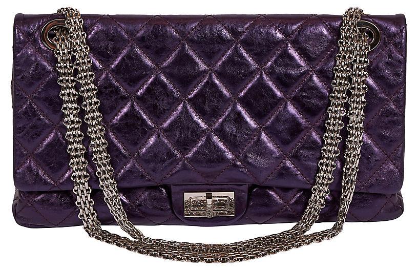 Chanel Purple Metallic Maxi Reissue Flap