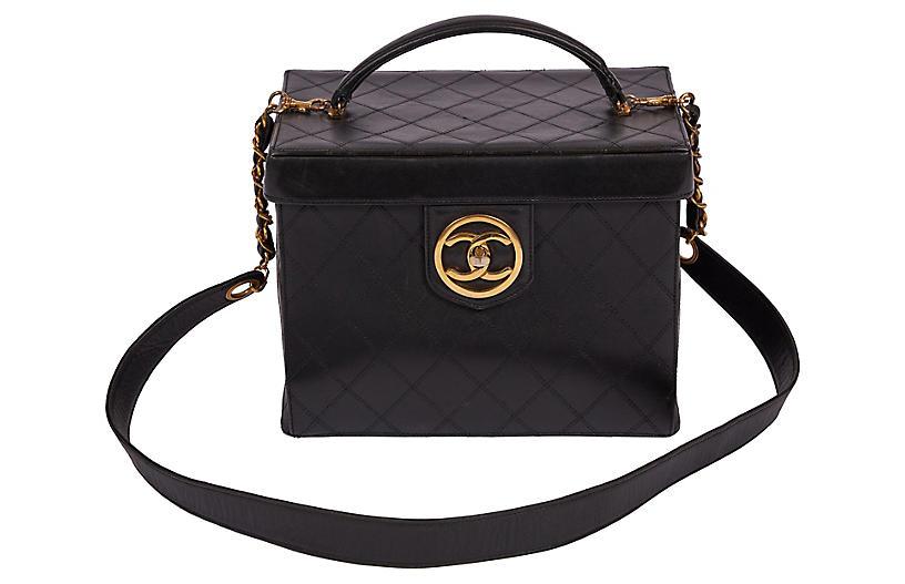 Chanel Rare 90s Black Beauty Case