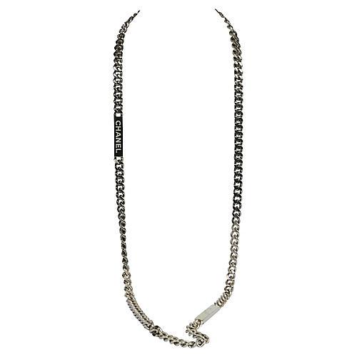 Chanel Gunmetal Heavy Duty Necklace/Belt