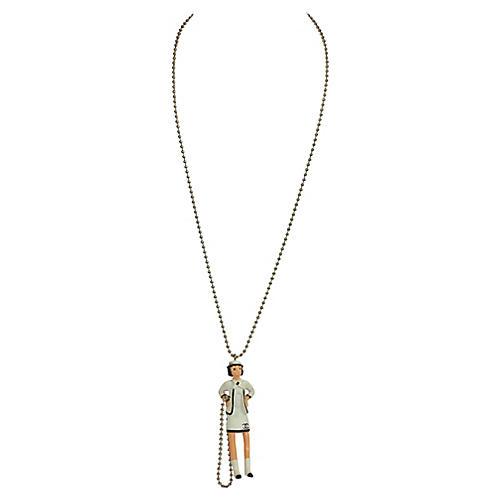 Chanel Coco Figurine Pendant Necklace