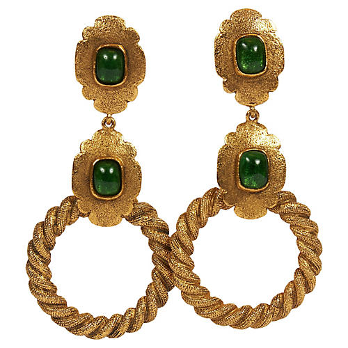 Chanel Rare Oversized Gripox Earrings