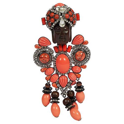 Vrba Coral One Of A Kind Maharaja Brooch