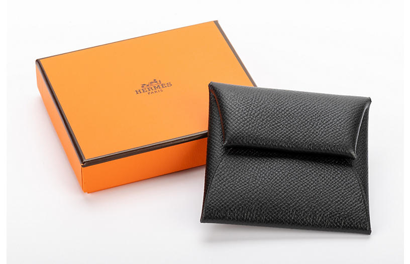 Hermès Black Epsom Coin Case