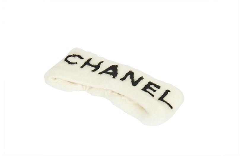Chanel Headband White