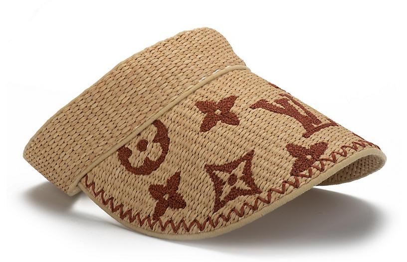 Vuitton Lim. Ed. Brand New Raffia Visor