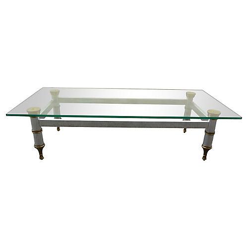 Midcentury Aluminum Coffee Table