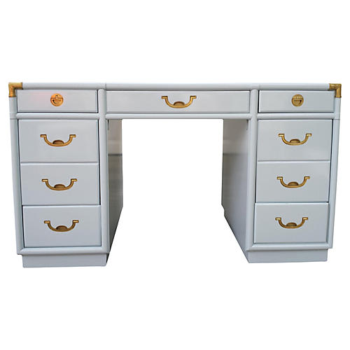 Vintage campaign style furniture one kings lane 1970s lacquered campaign style desk vintagevintage bella home gumiabroncs Choice Image