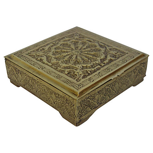 Solid Brass Trinket Box
