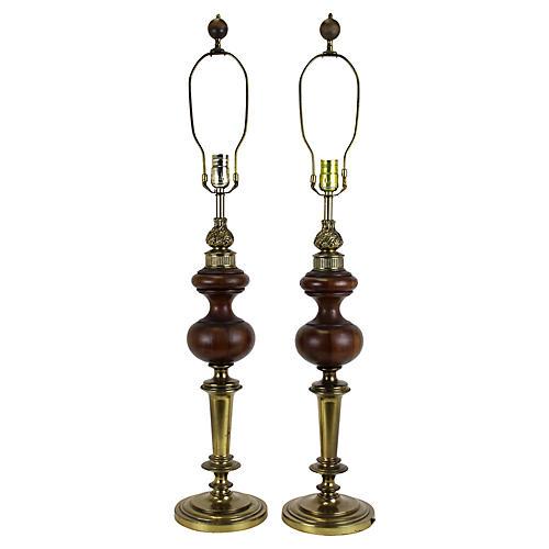 Rembrandt Table Lamps, Pair