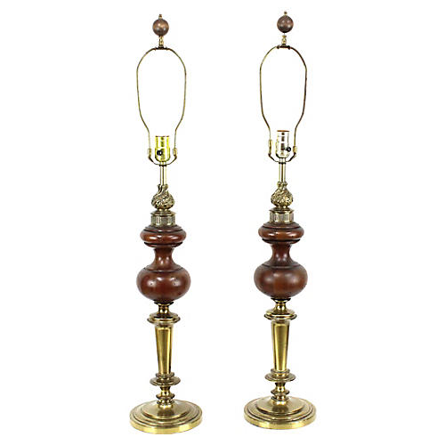 Rembrandt Table Lamps, Pair