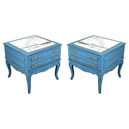 Midcentury French-Style Nightstands, S/2
