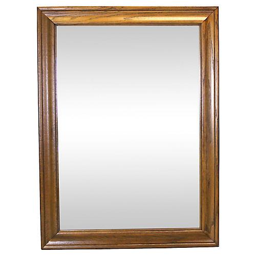 Mid Century Walnut Mirror