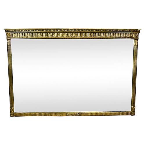 Hollywood Regency Gilded Mirror