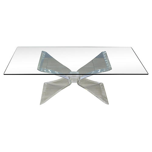 Lucite Butterfly Coffee Table