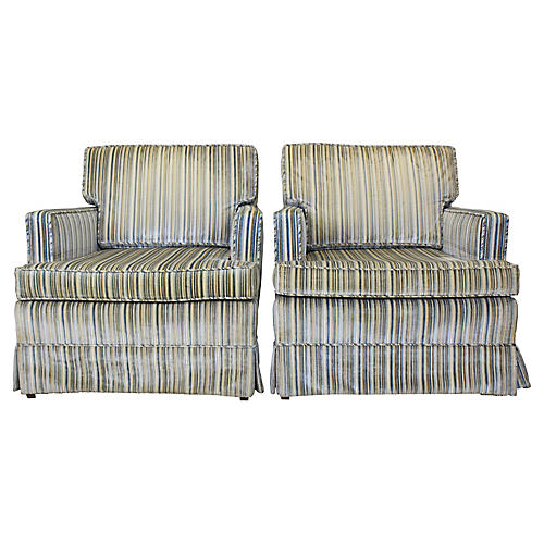 Midcentury Club Chairs, Pair