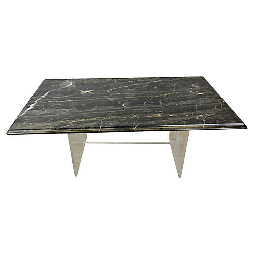 Acrylic Marble-Top Coffee Table