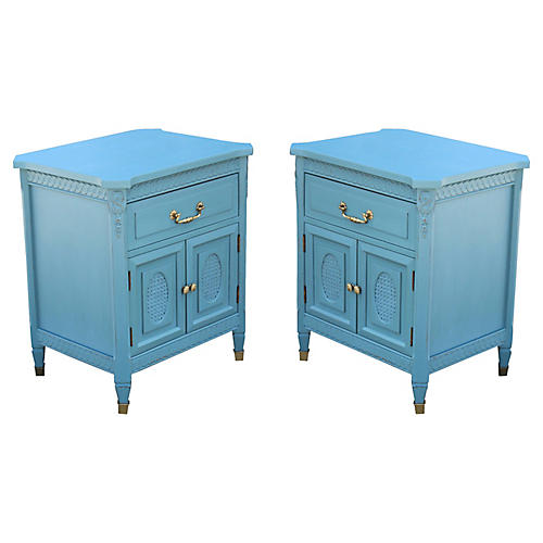 '60s Neoclassical-Style Nightstands, S/2