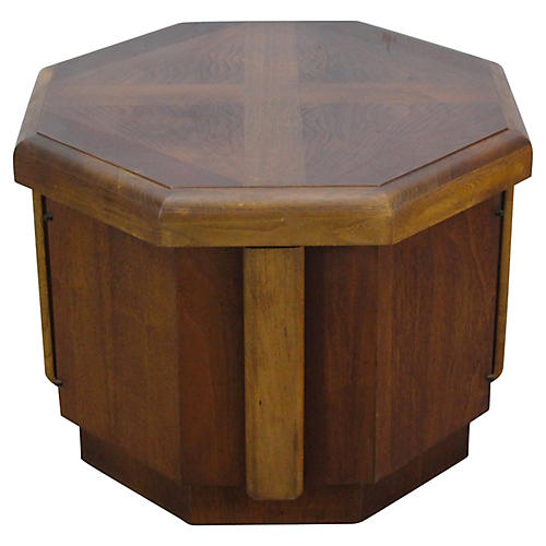 Midcentury Octagonal Side Table