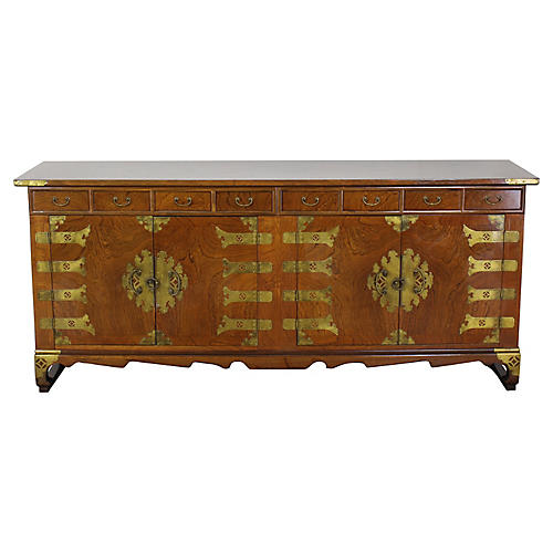 Mid-Century Asian Style Cabinet