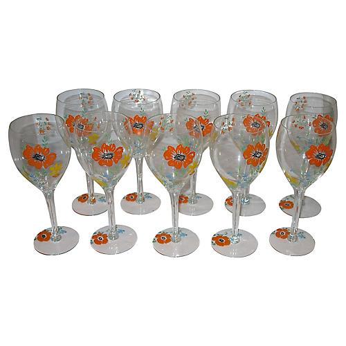 Dorothy C Thorpe Wineglasses, S/10