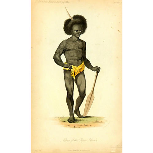 Papua Islands Native, 1855