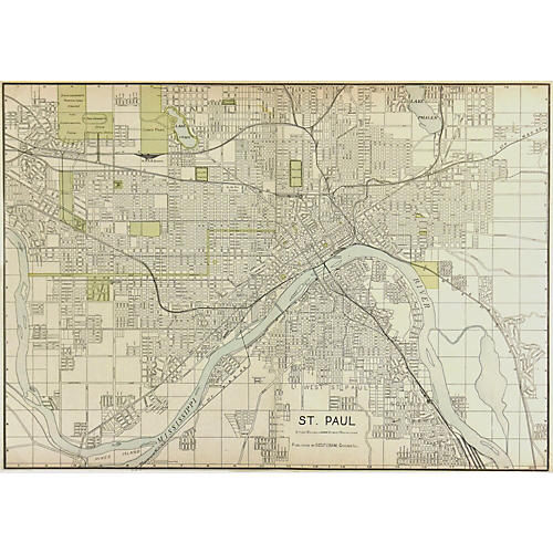 Map of St. Paul, 1908