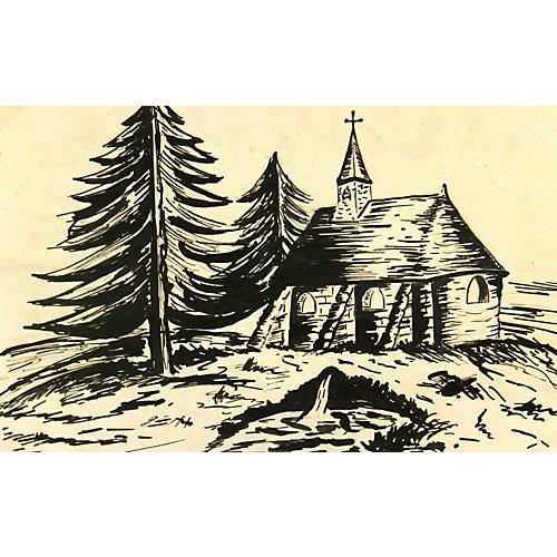 Chapel Pen and Ink
