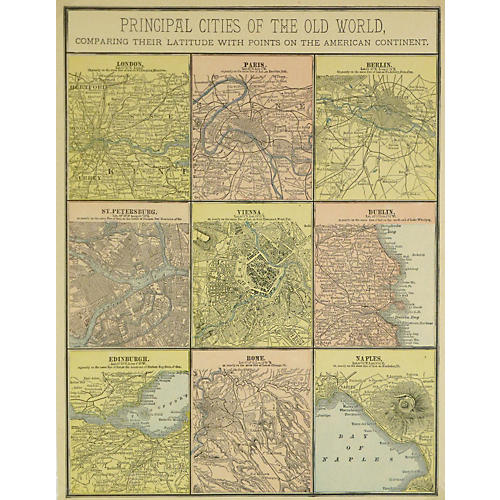 Principal Cities of the Old World, 1890