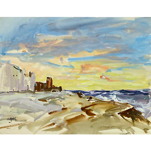 Coastal Sunset, C. 1960