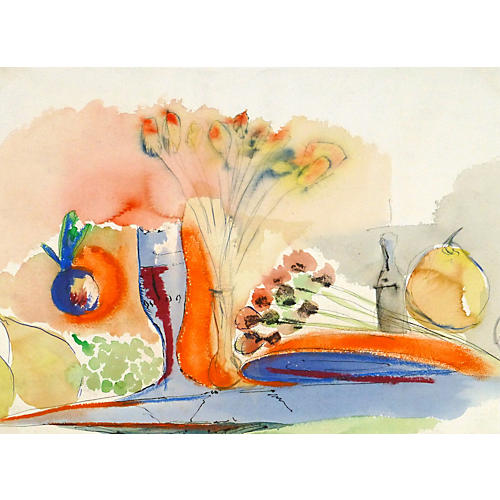 Golden Tablescape, C. 1960