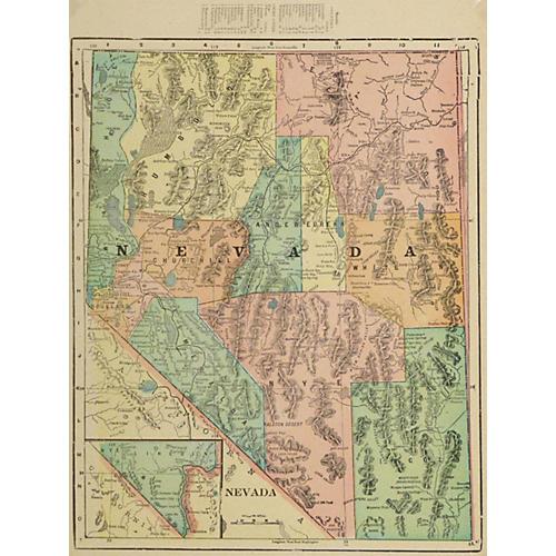 Nevada Map, 1903