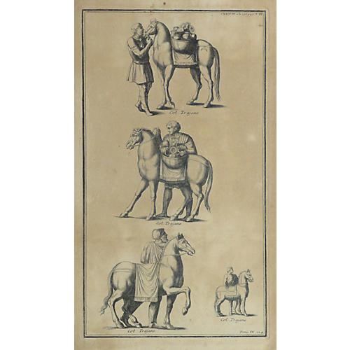 Roman Horse Statues, C. 1790