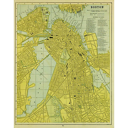 Map of Boston, 1886