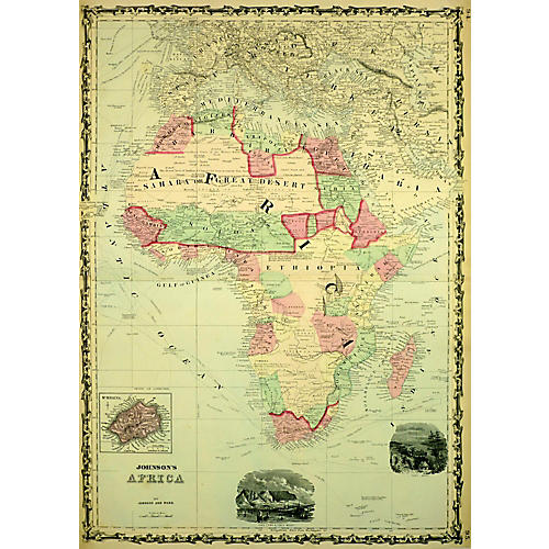 Map of Africa, 1863