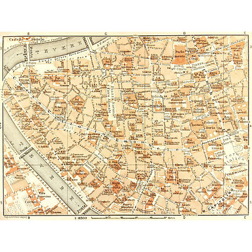 Map of Rome, 1928