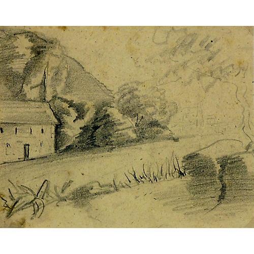 Pencil Sketch, C. 1900