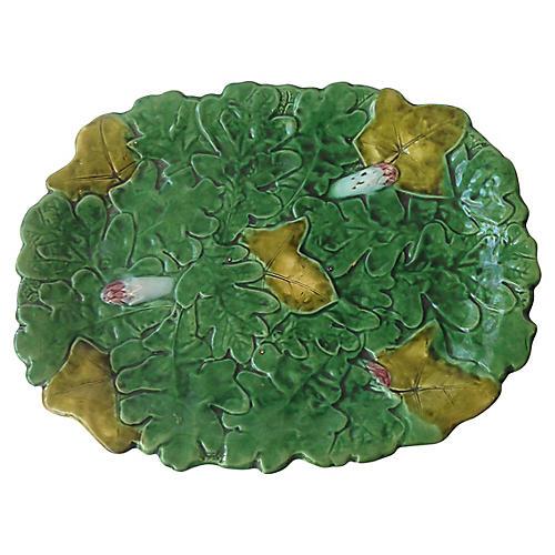 French Majolica Asparagus Platter
