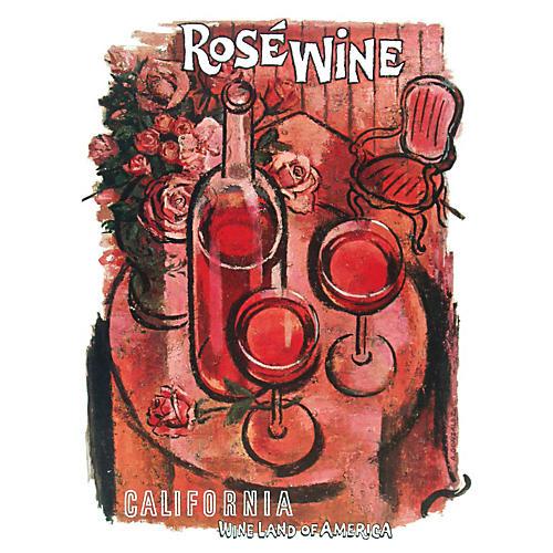 California Wine Land Rosé Poster