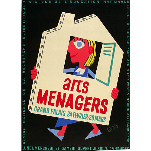 Arts Menagers Poster by Bernard, C. 1965