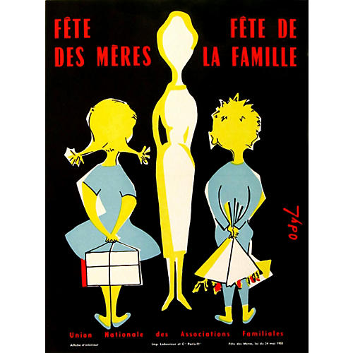 French Mother's Day Poster