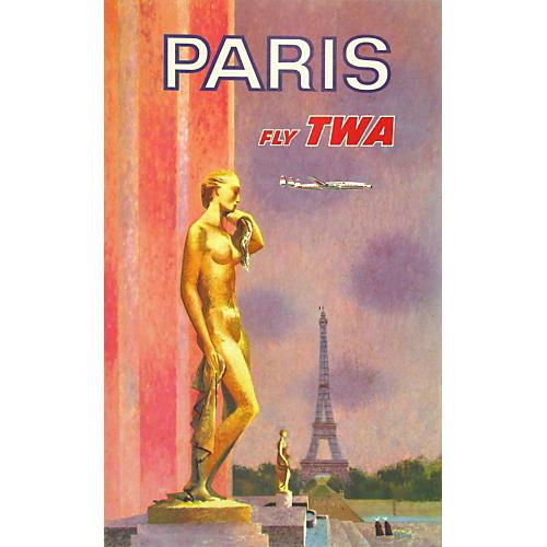 Original Paris via TWA Travel Poster