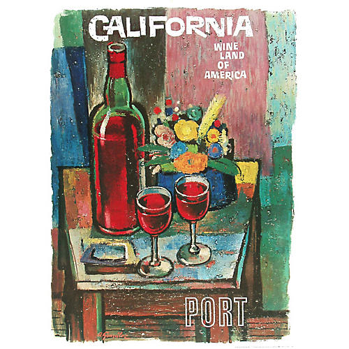 California Wine Land Port Poster