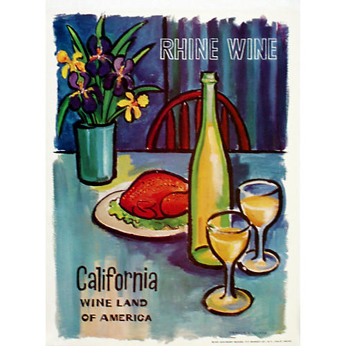 California Rhine Wine Poster
