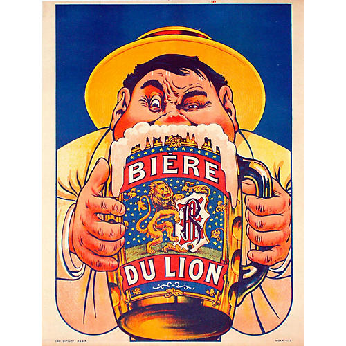 Biere du Lion Beer Poster