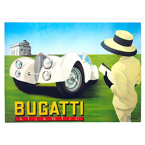 Bugatti Classic Car Poster