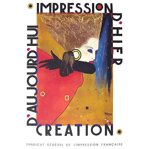 1987 Impression d'Hier Poster