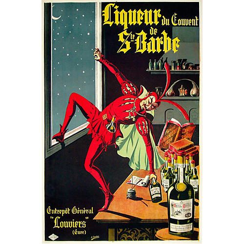 French Liquor Poster