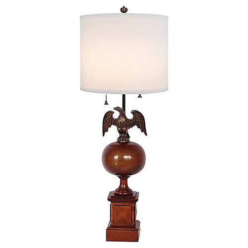 Brass Eagle Lamp